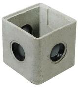 Regard béton RMJ40 répartiteurs à joints int.42x42x25cm ext.46x46x28 - Tuile de verre CHAGNY ( Montchanin Losangée) long.41,5cm larg.24,5cm - Gedimat.fr