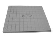 Panneau en polystyrène expansé ISOLEADER long.1,20m larg.1,00m ép.4,7cm - Tablette mélaminée blanc, 2 chants, pré-percée - Gedimat.fr