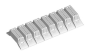 Entrevous en matériaux de synthèse LEADER EMS M1 entraxe de 60cm long.120cm haut.20cm - Planchers - Matériaux & Construction - GEDIMAT