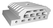 Entrevous moulé en polystyrène ISOLEADER 23 M4 entraxe de 60cm long.60cm - Poutre VULCAIN section 20x30 cm long.3,00m pour portée utile de 2.1 A 2.60m - Gedimat.fr