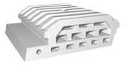 Entrevous moulé en polystyrène ISOLEADER 33 M1 entraxe de 60cm long.1,20cm - Bloc de béton cellulaire chainage d'angle long.60cm haut.25cm ép.20cm - Gedimat.fr