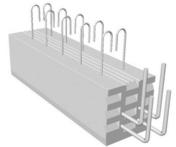 Poutre en béton précontrainte PSS LEADER section 20x20cm long.3,70m - Entrevous en matériaux de synthèse LEADER EMS ECO VS entraxe de 60cm long.120cm haut.13cm - Gedimat.fr