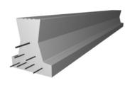 Poutrelle en béton LEADER 158 haut.15cm larg.14cm long.7,50m - Poutre VULCAIN section 20x40 cm long.4,50m pour portée utile de 3,6 à 4,10m - Gedimat.fr