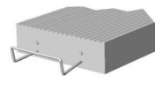 Prélinteau en béton SR5 ép.5cm larg.20cm long.1,40m - Porte de service isolante DIEPPE en PVC ISO160 blanc gauche poussant haut.2,15m larg.90cm - Gedimat.fr