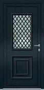 Porte d'entrée DAKOTA en aluminium laqué gauche poussant haut.2,00m larg.90cm blanc - Embase à visser pour collier de câblage coloris noir en sachet de 10 pièces - Gedimat.fr
