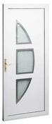 Porte d'entrée LAMBDA 3 en PVC gauche poussant haut.2,00m larg.90cm blanc - Bache kraft adhésive P526 long.50m larg.90cm - Gedimat.fr