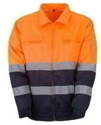 Veste haute visibilité polyester et coton coloris orange taille XXL - Protection des personnes - Vêtements - Outillage - GEDIMAT