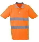 Polo de travail haute visibilité polyester coloris orange taille XL - Protection des personnes - Vêtements - Outillage - GEDIMAT