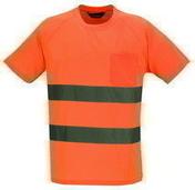 T-Shirt haute visibilité polyester coloris orange taille XXL vendu à l'unité - Protection des personnes - Vêtements - Outillage - GEDIMAT
