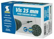 Vis TTPC - 25x3,5mm - boîte de 1000 pièces - Laine de verre ACOUSTIPLUS 032 revêtue kraft - 5,4x1,2m Ep.85mm - R=2,65m².K/W. - Gedimat.fr