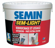 Enduit de rebouchage intérieur SEM LIGHT - seau de 1l - Enduits de rebouchage - Peinture & Droguerie - GEDIMAT