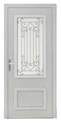 Porte d'entrée CORMELLES en aluminium droite poussant haut.2,15m larg.90cm - Porte d'entrée Aluminium MUSIA avec isolation totale de 160mm gauche poussant haut.2,15m larg.90cm laqué blanc - Gedimat.fr