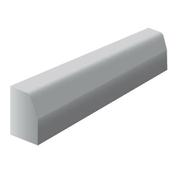 Bordure béton T1 larg.12cm haut.20cm long.1m classe U+D coloris gris - Bordures - Matériaux & Construction - GEDIMAT