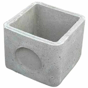 Boîte pluviale STANDARD à emboîtement béton dim.int.60x60cm haut.40cm - Porte d'entrée HANOI en aluminium laqué gauche poussant haut.2,15m larg.90cm gris/blanc - Gedimat.fr