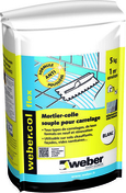 Mortier-colle WEBER.COL FLEX sac 10kg blanc - Escalier hélicoïdal kit KLAN acier/bois diam.1,40m haut.2,53/3,06m finition noir/bois clair - Gedimat.fr