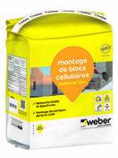 Mortier de montage WEBER.CEL BLOC sac 5 kg - Poinçon pigne pout faîtage TERREAL coloris tabac masse - Gedimat.fr