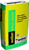 Béton de maçonnerie ultra-rapide sans malaxage WEBER BETON NOMIX sac de 25kg - Ciments - Chaux - Mortiers - Matériaux & Construction - GEDIMAT