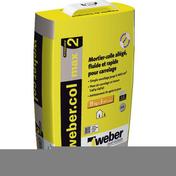 Mortier-colle WEBER.COL MAX sac 15kg gris - Colles - Joints - Revêtement Sols & Murs - GEDIMAT