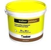Peinture acrylique WEBER PEINTURE pot de 20kg teinte A539 - Peintures façades - Matériaux & Construction - GEDIMAT