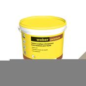 Peinture acrylique WEBER PEINTURE sceau de 20kg Terre cendrée teinte A035 - Peintures façades - Matériaux & Construction - GEDIMAT