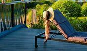 Lame de terrasse Composite FOREXIA ELEGANCE lisse lisse ép.23mm larg.180mm long.4m Anthracite - Lame de terrasse Tatajuba ép. 21mm larg.145mm long.3,05m - Gedimat.fr