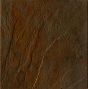 Carrelage pour sol en grès cérame émaillé NORDKAPP dim.40x40cm coloris marron - Faîtière à bourrelet à emboîtement coloris rouge ancien - Gedimat.fr
