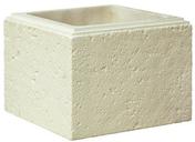 Elément de pilier CHAUMONT 35x35cm haut.25cm coloris blanc champagne - Chapeau pour pilier pierre reconstituée CHEVERNY 50x50cm haut.11cm coloris champagne - Gedimat.fr