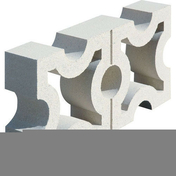 Claustra SAN REMO dim.20x40cm coloris blanc - Doublage isolant plâtre + polyuréthane PREGYRETHANE 23 ép.10+80mm larg.1,20m long.2,50m - Gedimat.fr