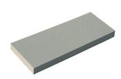 Chaperon CLASSIQUE plat haut.4cm larg.23cm long.49cm coloris gris - Porte de service GUAGNO en aluminium laqué gris droite poussant haut.2.15m larg.90cm - Gedimat.fr
