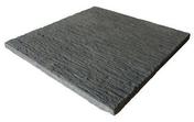Dalle en pierre reconstitu�e AURAY dim.50x50cm �p.3,2 coloris gris anthracite - Pav�s - Dallages - Mat�riaux & Construction - GEDIMAT
