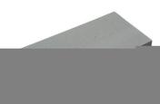 Chaperon CLASSIQUE plat haut.4cm larg.28cm long.49cm coloris gris - panneau tuile PVC dim. hors tout long.218cm larg.74cm ép.2,3mm antique - Gedimat.fr