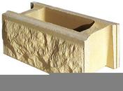 Elément de pilier BOSSELE 30x30cm haut.16,7cm coloris ton pierre - About d'arêtier pour faîtière angulaire TERREAL coloris vieille terre - Gedimat.fr