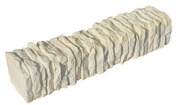 Bordure pierre reconstituée FLORAC droite ép.10cm haut.9cm long.50cm coloris champagne - Marquise contemporaine en acier laqué blanc LINE180 prof.90cm long.1,80m - Gedimat.fr