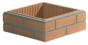 Elément de pilier ASPECT BRIQUE joints finis 29x29cm haut.13,3cm brique unie - Scraper aluminium professionnel lame acier trempé poignée plastique 120cm - Gedimat.fr