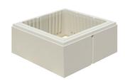 Elément de pilier LISSE 38x38cm haut.16,7cm coloris blanc cassé - Bloc béton plein B120 NF ép.17,5cm haut.20cm long.50cm - Gedimat.fr