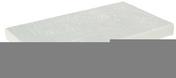 Chaperon TRADITION plat haut.6cm larg.28cm long.49cm coloris blanc - Panneau de Particule Surfacé Mélaminé (PPSM) ép.8mm larg.2,07m long.2,80m Blanc Antik finition Perlé - Gedimat.fr
