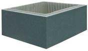 Elément de pilier STELL IN dim.39x39cm haut.16,7cm coloris gris nacre - Lanterne TBF n°3 diam.130mm coloris amarante glacé - Gedimat.fr