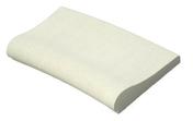 Margelle piscine courbe AQUITAINE long.49cm larg.33cm rayon.15cm coloris blanc cassé - Margelles - Revêtement Sols & Murs - GEDIMAT