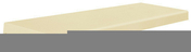 Chaperon TRADITION plat haut.5cm larg.33cm long.99cm coloris champagne - Demi-tuile PLATE PRESSEE 17x27 coloris terre de Beauce - Gedimat.fr