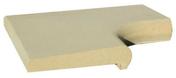 Margelle piscine d'angle intérieur PERIGORD BECQUET dim.50x50x30cm rayon.15cm coloris pierre du lot - Enduit de parement minéral projeté épais à la chaux aérienne WEBER.CAL PG sac 25 kg teinte 345 - Gedimat.fr