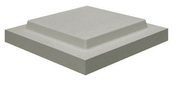 Chapeau plat double couronnement 50x50cm ép.6cm coloris gris - Plaque fibre-gypse FERMACELL 4BA ép.15mm larg.1,20m long.3,00m - Gedimat.fr
