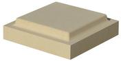 Chapeau plat double couronnement 32x32cm ép.6cm coloris ton pierre - Tuile à douille CANAL GELIS/230 diam.150mm lc coloris tabac - Gedimat.fr