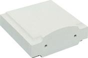 Chapiteau d'extrémité plat dim.32,5x32,5cm ép.10cm coloris blanc - Verre synthétique pour intérieur ép.5mm larg.50cm long.1,00m - Gedimat.fr