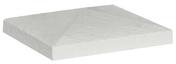 Chapeau CHEVERNY 40x40cm ép.8cm coloris blanc - Pavé en béton ép.10cm dim.11x11cm coloris gris - Gedimat.fr