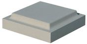 Chapeau plat double couronnement 32x32cm ép.6cm coloris gris - Demi-tuile 2/3 pureau PLEIN SUD coloris paysage - Gedimat.fr