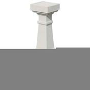 Balustre LUYNES CLASSIQUE carré 16x16cm haut.59cm coloris blanc cassé - Doublage polyuréthane SIS REVE ép.80+10mm larg.1,20m long.2,60m - Gedimat.fr