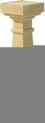 Balustre LUYNES CLASSIQUE carré 16x16cm haut.59cm coloris ton pierre - Tuile à douille CANAL MIDI diam.100mm coloris aurore - Gedimat.fr