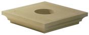 Chapiteau carré 52x52cm coloris ton pierre - Tuile et 1/2 PLATE TRADITION 17x27 coloris rustique - Gedimat.fr