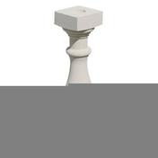 Balustre VILLANDRY ronde 17x17cm haut.73cm coloris blanc cassé - Verre synthétique pour intérieur ép.5mm larg.50cm long.1,00m - Gedimat.fr