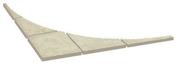 Angle de jonction pour cercle RICHELIEU ép.3,2cm 1,43x1,43m coloris ton champagne - Eléments pré-fabriqués - Matériaux & Construction - GEDIMAT